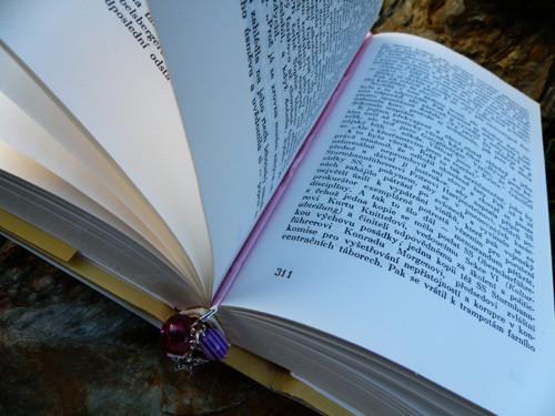 Záložka do knihy - Fialka