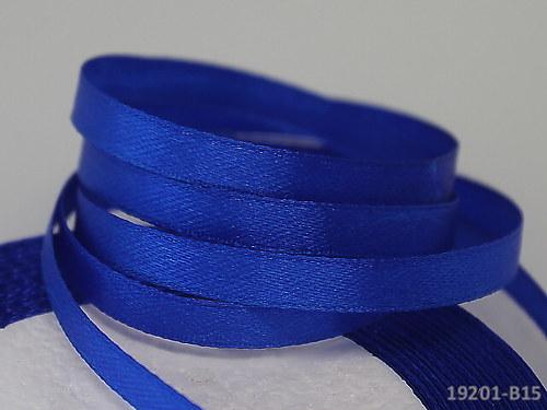 19201-B15 Stuha satén 6mm modrá nivea, svazek 5m