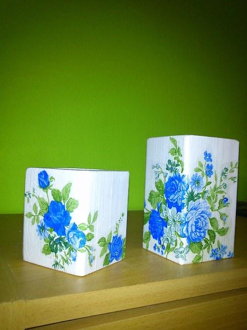 Svícen - Modré růže