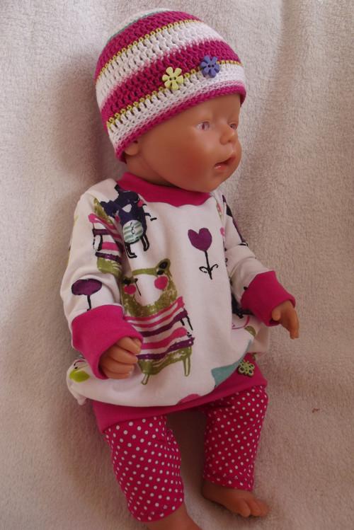"""Oblečky pro panenky - \""""Tunika s barevnými zvířátky"""