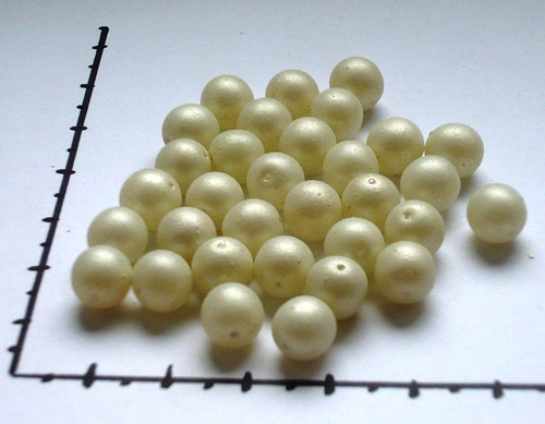 Perličky skleněné bílé, 20g
