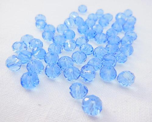 swarovski - světle modré rondelky 6 mm