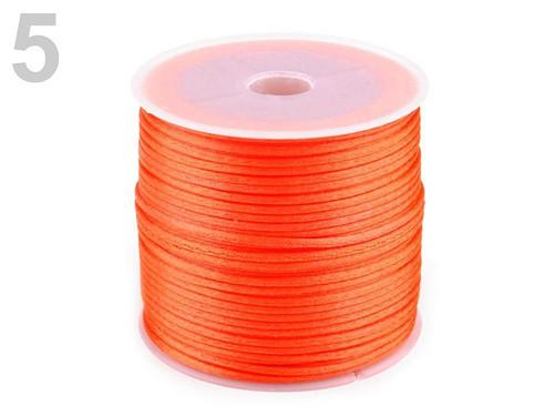 Saténová šňůra pr.1mm (10m) - červeno oranžová