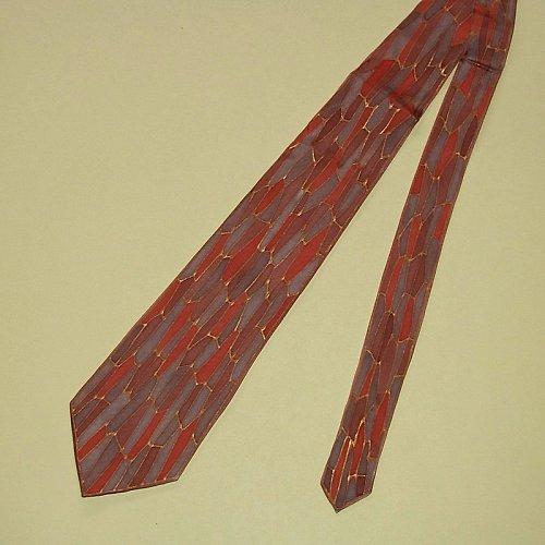 Kravata hnedo-sivá