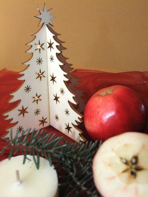 Vánoční strom, stromeček - HVĚZDY, HVĚZDIČKY 15 cm