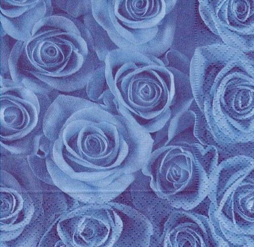 Ubrousek - modré růže