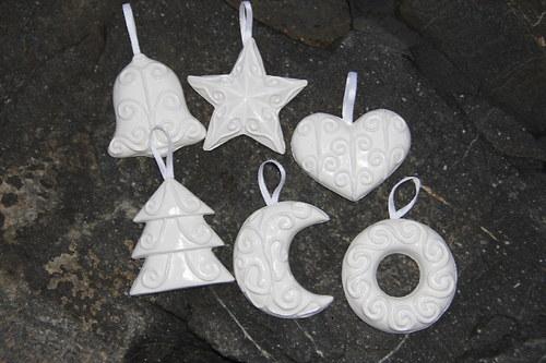 vánoční ozdoby-sada 6 kusů