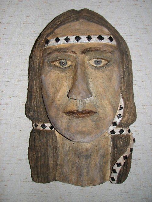Indián - maska v 33 cm