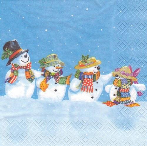 Ubrousek - sněhuláci