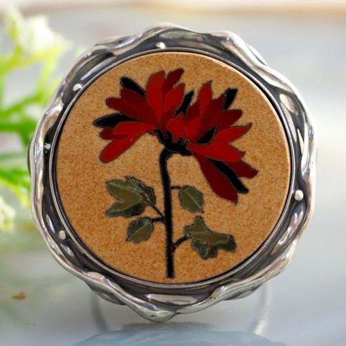Prsten «Chryzantéma» stříbro Ag 925