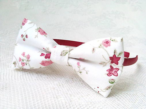 Romantic headband (white/flowers)