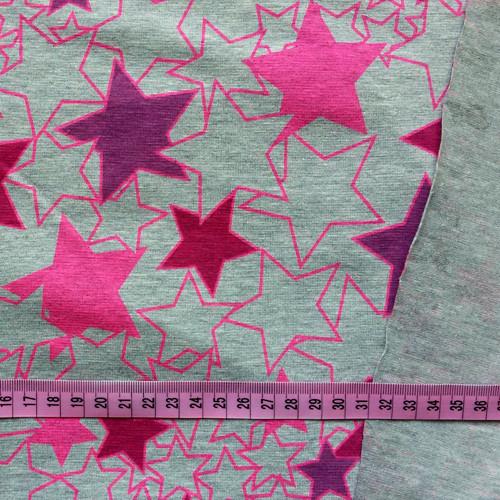 Bavlněný úplet, stars girl / 0,5 m