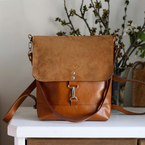 Kožený batoh Lara (koňakový-hnedý)