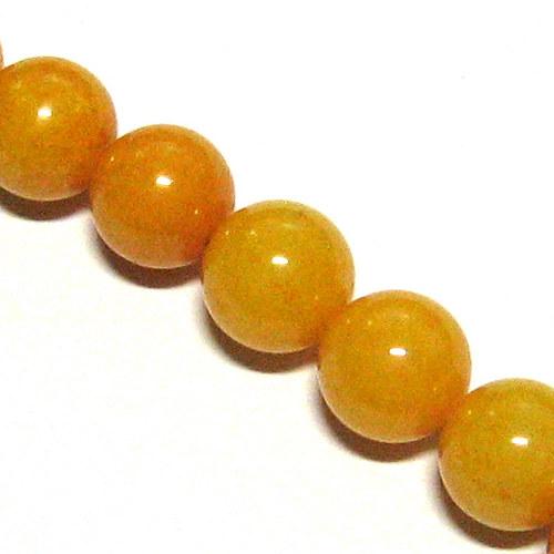 Jadeit - amber - 10 mm - 2 ks