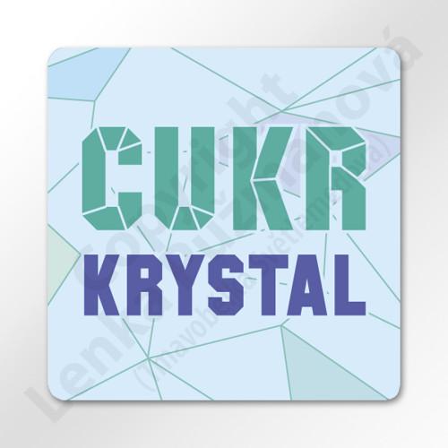 Cukr krystal - samolepka na kořenku