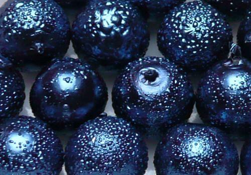 Vroubkované voskovky 8 mm - 10 ks - tm. modrá