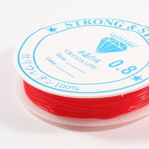 Pruženka 0,8 mm červená 6 m