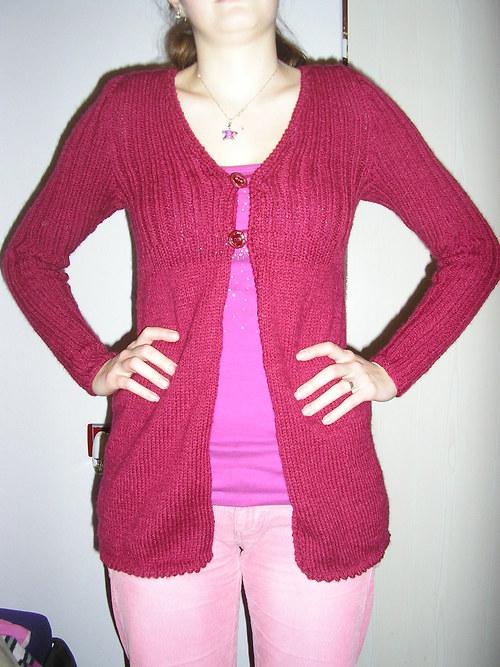 Dámský svetr bordó