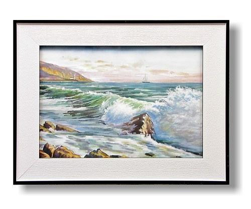 Akvarel-Studie pobřeží