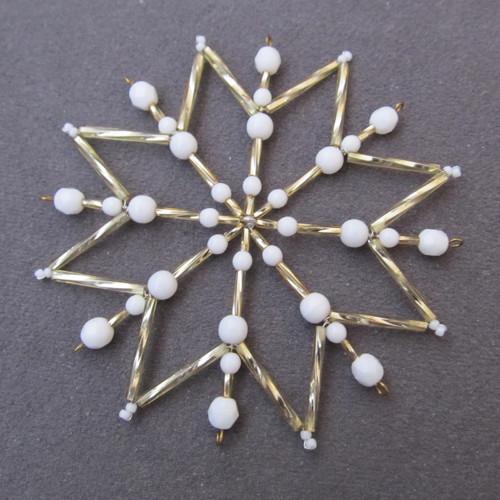 Vánoční hvězda zlatobílá