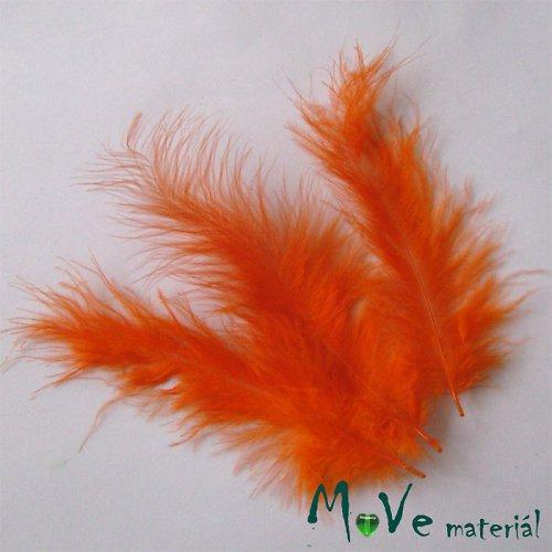 Pštrosí peří délka 120-170mm, 4ks oranžové