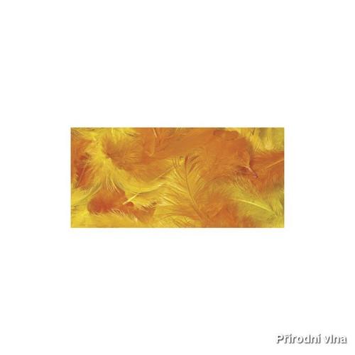 Směs barevných peří žluto-oranžová 10 g