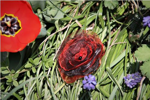 Flamenco květinka pro tanečnici do vlasů