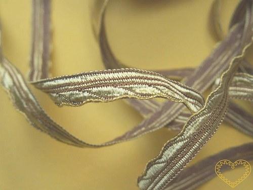 Úzká stuha zlatohnědá - šíře 0,6 cm