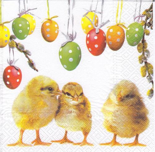 Ubrousek - kuřátka s vajíčky (2 ks - AKCE)