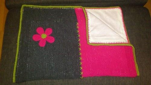 Pletená deka - podšitá