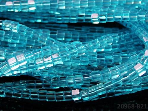 20968-B21 Korálky kostky sklo TRKYS 4mm, bal.15ks