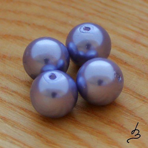 Voskové perle fialové SV 12 mm - 6 ks