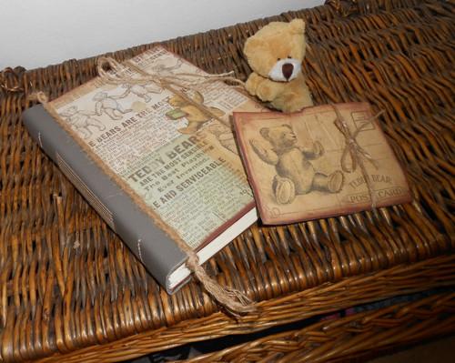 Deník, zápisník - tajemný medvídek