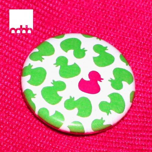 Placka s motivem kachniček - zelená