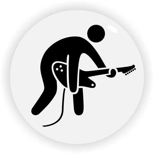 Hráč na elektrickou kytaru