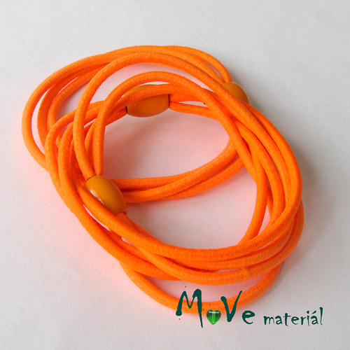 Sada kulatých gumiček na úpravu, 3ks, neon. oranž.