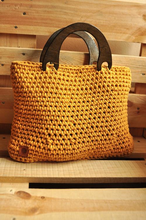 Háčkovaná taška velká