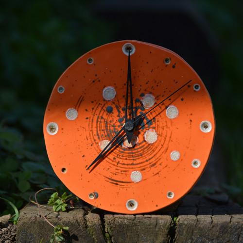 Keramické hodiny Kruh střední - Oranžáda