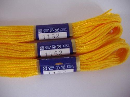 Vyšívací příze mouline - žlutá