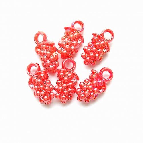 Akrylové hrozny červené 3 ks