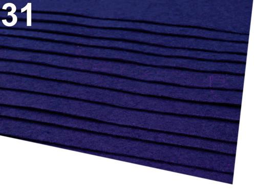 Arch plsti - filcu- 20x 30 cm : Tm. modrá