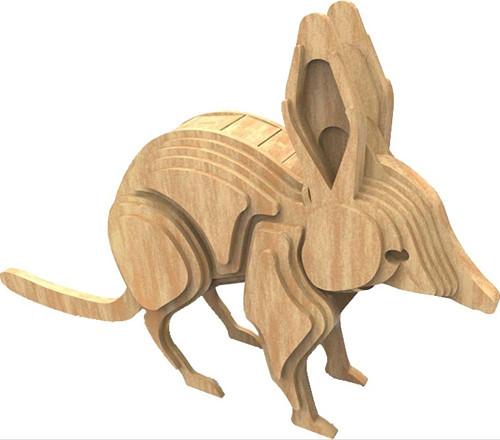 Dřevěná skládačka Bilby - australská zvířata