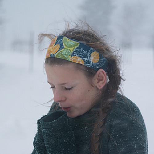 zimní ... dívčí čelenka sveverkou