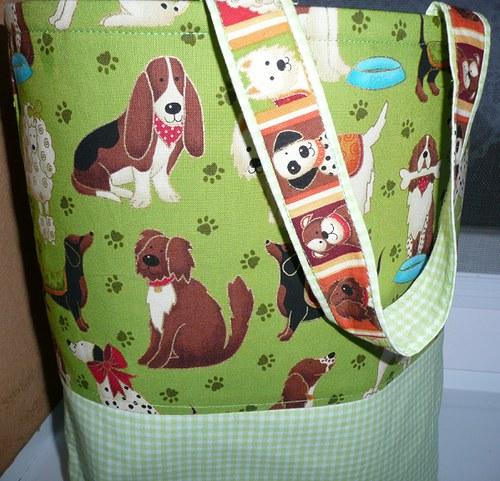 Pejsková kabelka a košík na hračky 2v1