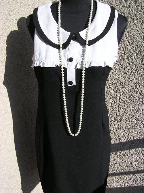 Šaty černobílé, elegantní
