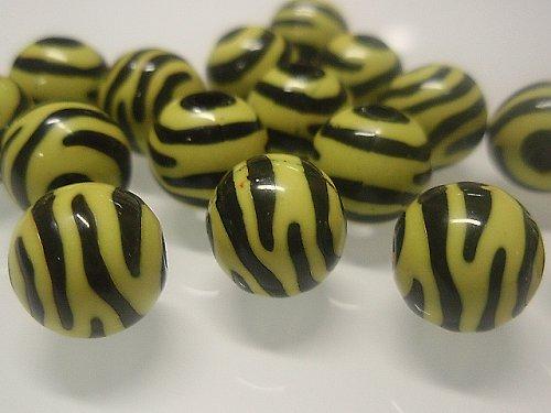 19472 Korálky zebra kulaté žluto/černé bal.10ks