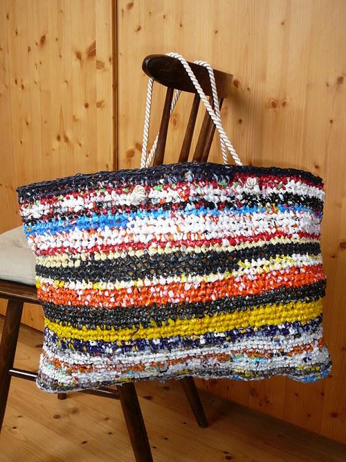 velká háčkovaná taška