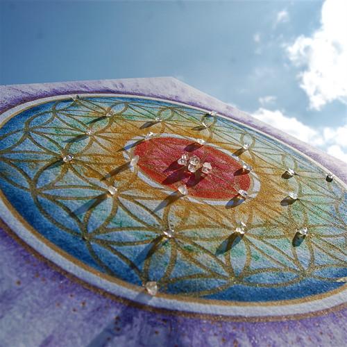 Květ života  -  textilní obraz