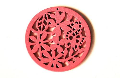 dřevěná kolečka- růžová