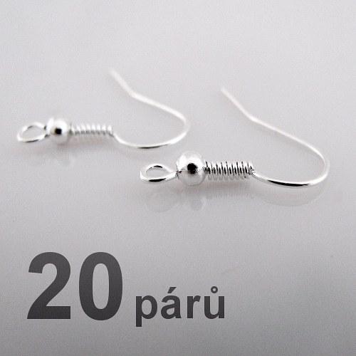 Afroháčky - stříbrná barva - 40ks (20 párů)